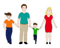 Happy family mother and father with two sons Royalty Free Stock Photo