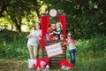 Happy Family On Nature Photosh...