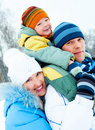 Happy family outdoor Stock Images