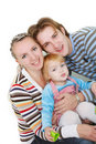 Happy family over white Royalty Free Stock Photo