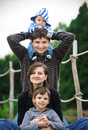 Happy family in a park Royalty Free Stock Photography