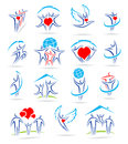 Happy family set of icons and this is file eps format Royalty Free Stock Image