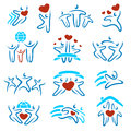 Happy family set of icons and see my other works in portfolio Royalty Free Stock Photo