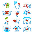 Happy family set of icons and see my other works in portfolio Royalty Free Stock Photos