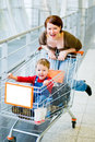 Happy family shopping Stock Photos