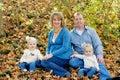Happy Family Sitting Royalty Free Stock Photo