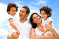 Happy family smiling Royalty Free Stock Photography