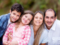 Happy family smiling portrait of a beautiful Royalty Free Stock Image