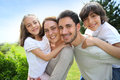 Happy family spending goof time together outdoors Royalty Free Stock Photo