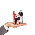 Happy family stand on hand Royalty Free Stock Photo