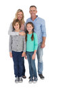 Happy family standing and smiling at camera Royalty Free Stock Photo