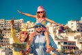 Happy family on summer vacation Royalty Free Stock Photo