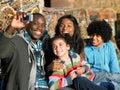 Happy family taking photo Royalty Free Stock Photo