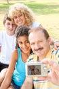 Happy family taking self portrait Stock Photo