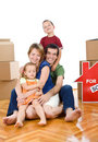 Happy family in their new home Royalty Free Stock Photo
