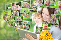 Happy family using tablet PC Royalty Free Stock Photo