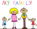 Happy family vector Royalty Free Stock Image