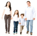 Happy family walking Royalty Free Stock Photo