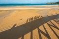 Happy family walking on the beach thailand Royalty Free Stock Photos