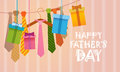 Happy Father Day Family Holiday, Necktie Greeting Card