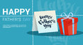 Happy Father Day Family Holiday, Present Box Greeting Card