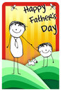 Happy father day greeting Stock Photos