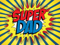 Happy father day super hero dad vector Royalty Free Stock Images