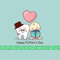 Happy Father Day with teeth