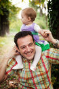 Happy father with his baby daughter Stock Photography