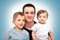 Happy father with his children Royalty Free Stock Photo