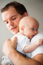 Happy father and infant Stock Image