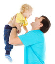 Happy father playing with child Royalty Free Stock Photography
