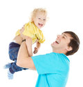 Happy father playing with  child Royalty Free Stock Photos