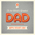Happy Father's Day Card With L...