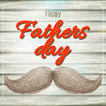 Happy Father s Day card with mustache. EPS 10