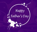 Happy father s day floral designed card for Royalty Free Stock Image