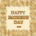 Happy Father's Day Gold Royalty Free Stock Image