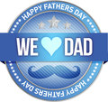 Happy father s day rubber stamp seal illustration Royalty Free Stock Photo