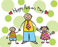 Happy Father's Day - tan Royalty Free Stock Images