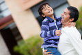 Happy father and son Stock Photography