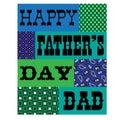 Happy fathers day bandana card blue green