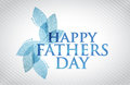 Happy fathers day card illustration design graphic Royalty Free Stock Photo