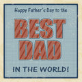 Happy fathers day card vintage retro poster vector illustration Stock Images