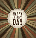 Happy fathers day fag over vintage background vector illustration Stock Photo