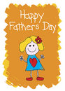 Happy Fathers Day - Girl Stock Photo