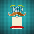 Happy fathers day greeting card background illustration Royalty Free Stock Photo