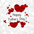 Happy fathers day greeting card vector illustration Stock Photos