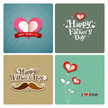 Happy fathers day love dad collections greeting card background illustration Stock Photo