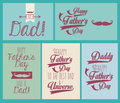 Happy fathers day over blue background vector illustration Stock Photo