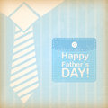 Happy fathers day over clothes background vector illustration Royalty Free Stock Photography